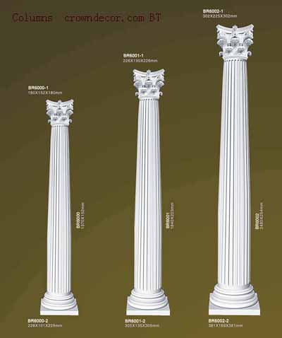 Columns Crowndecor Wholesale Pu Polyurethane Columns To