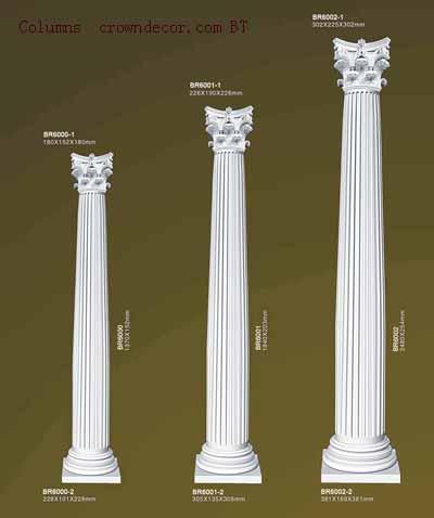 Columns crowndecor wholesale pu polyurethane columns to for Polyurethane columns